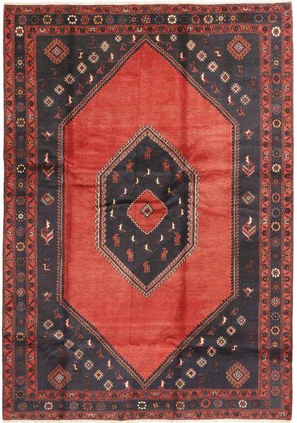 Klardasht Teppich  205X293 Echter Orientalischer Handgeknüpfter Dunkelrot/Dunkelgrau (Wolle, Persien/Iran)