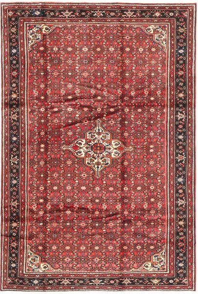 Hosseinabad Teppe 203X303 Ekte Orientalsk Håndknyttet Brun/Mørk Brun (Ull, Persia/Iran)