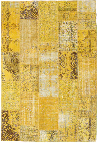 Patchwork Rug 203X298 Authentic  Modern Handknotted Yellow (Wool, Turkey)