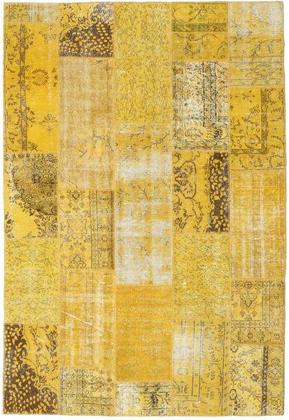 Patchwork Alfombra 203X298 Moderna Hecha A Mano Amarillo (Lana, Turquía)