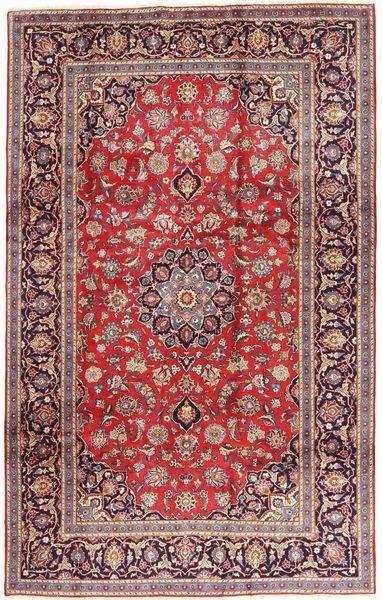 Keshan Matta 195X312 Äkta Orientalisk Handknuten Mörkröd/Ljuslila (Ull, Persien/Iran)