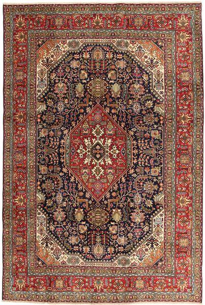 Tabriz Matto 200X300 Itämainen Käsinsolmittu Tummanruskea/Ruskea (Villa, Persia/Iran)