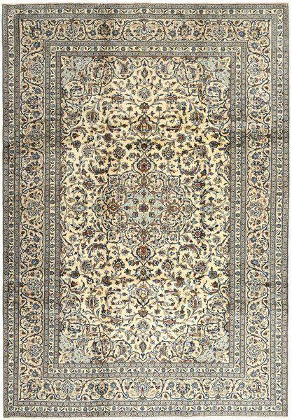 Keshan Matta 240X345 Äkta Orientalisk Handknuten Ljusgrå/Olivgrön (Ull, Persien/Iran)