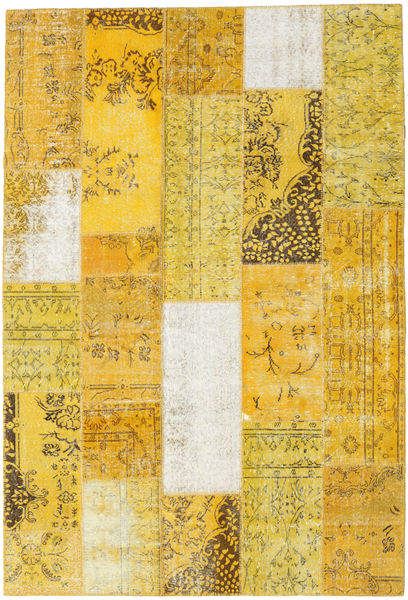 Patchwork Rug 204X301 Authentic  Modern Handknotted Yellow (Wool, Turkey)