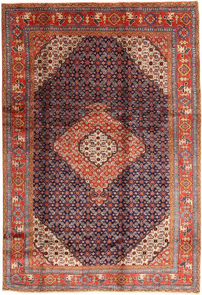 Ardabil Tapis 198X287 D'orient Fait Main Marron Foncé/Rouge Foncé (Laine, Perse/Iran)