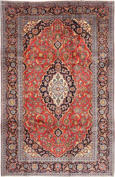 Keshan Matto 200X308 Itämainen Käsinsolmittu Tummanpunainen/Tummanruskea (Villa, Persia/Iran)