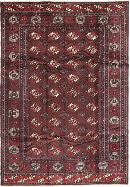 Turkaman Rug 210X300 Authentic  Oriental Handknotted Dark Red/Brown (Wool, Persia/Iran)