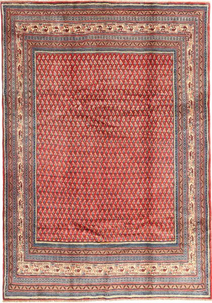 Sarouk Mir Rug 213X305 Authentic  Oriental Handknotted Purple/Brown (Wool, Persia/Iran)