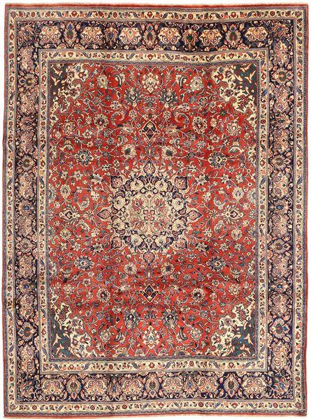 Sarough Matta 245X330 Äkta Orientalisk Handknuten Mörkröd/Mörkbrun (Ull, Persien/Iran)