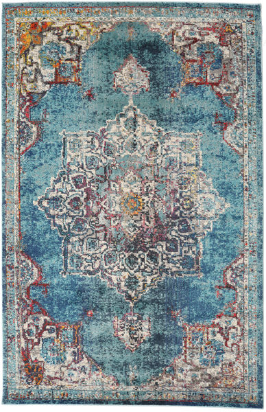 Balmoral - Petrol Blue Rug 200X300 Modern Light Grey/Blue ( Turkey)