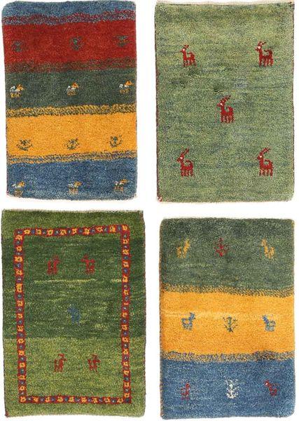 Gabbeh Persisk Matta 40X60 Äkta Modern Handknuten Olivgrön/Mörkgrön (Ull, Persien/Iran)