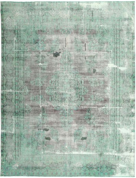 Colored Vintage Rug 290X390 Authentic  Modern Handknotted Light Grey/Pastel Green Large (Wool, Persia/Iran)