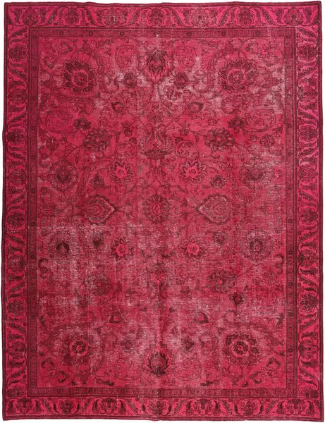Colored Vintage Rug 290X380 Authentic  Modern Handknotted Dark Red/Crimson Red/Pink Large (Wool, Persia/Iran)