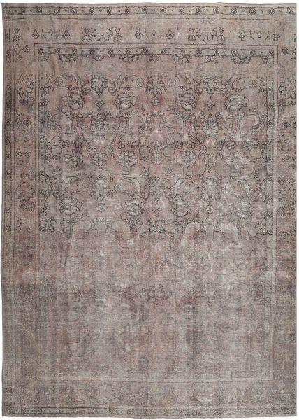 Vintage Tapis 288X380 Moderne Fait Main Gris Clair/Gris Foncé Grand (Laine, Perse/Iran)