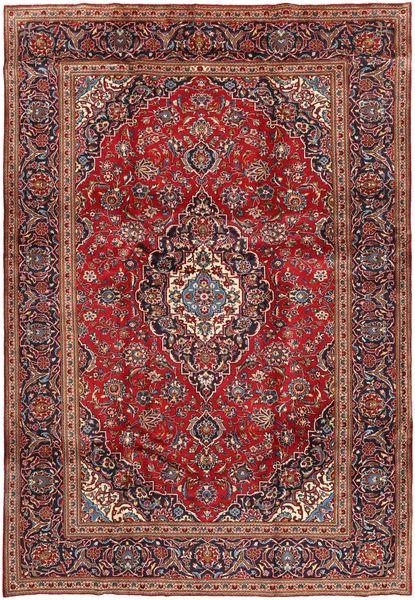 Keshan Rug 240X351 Authentic  Oriental Handknotted Dark Red/Dark Brown (Wool, Persia/Iran)