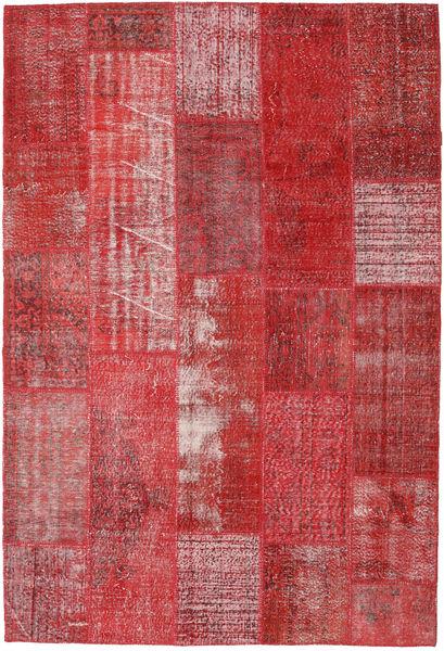 Patchwork Teppe 204X300 Ekte Moderne Håndknyttet Rød/Mørk Rød (Ull, Tyrkia)
