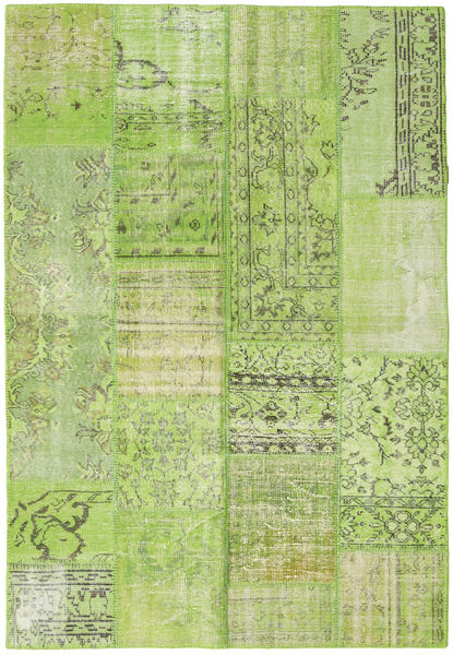 Patchwork Rug 160X233 Authentic  Modern Handknotted Light Green (Wool, Turkey)