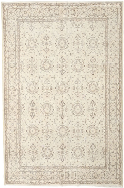 Colored Vintage Rug 207X314 Authentic  Modern Handknotted Beige/Light Brown (Wool, Turkey)