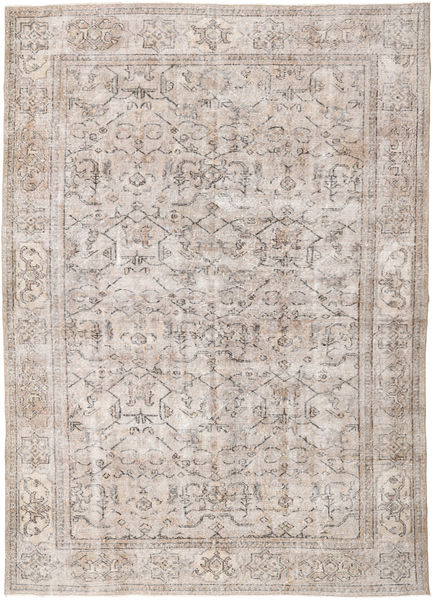 Colored Vintage Rug 214X296 Authentic  Modern Handknotted Light Grey/White/Creme (Wool, Turkey)