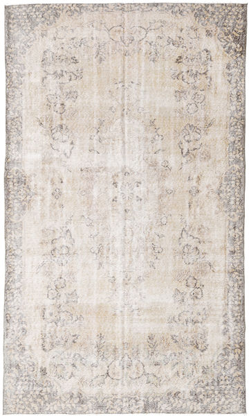Colored Vintage Rug 161X285 Authentic  Modern Handknotted White/Creme/Light Grey (Wool, Turkey)
