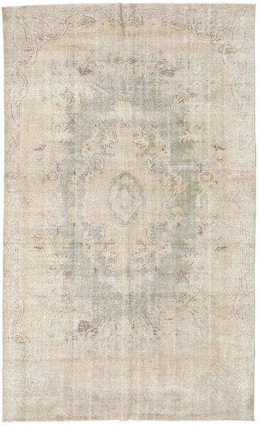 Colored Vintage Rug 181X305 Authentic  Modern Handknotted Light Grey/Light Brown (Wool, Turkey)
