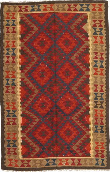 Kilim Maimane Rug 159X246 Authentic  Oriental Handwoven Dark Red/Light Brown (Wool, Afghanistan)