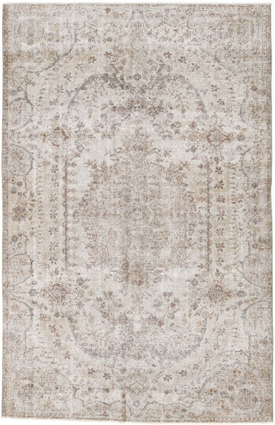 Colored Vintage Rug 186X296 Authentic  Modern Handknotted Light Grey/White/Creme (Wool, Turkey)