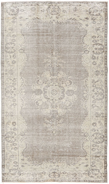 Colored Vintage Rug 165X278 Authentic  Modern Handknotted Light Grey/Light Brown (Wool, Turkey)