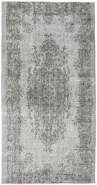 Colored Vintage Rug 120X231 Authentic  Modern Handknotted Light Grey/Dark Grey (Wool, Turkey)