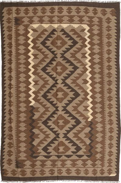 Kelim Maimane Teppe 190X293 Ekte Orientalsk Håndvevd Brun/Lysbrun (Ull, Afghanistan)
