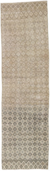 Colored Vintage Rug 80X288 Authentic  Modern Handknotted Hallway Runner  Light Brown (Wool, Turkey)