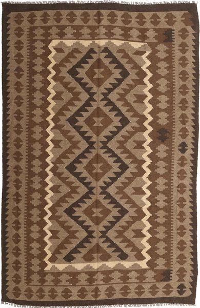 Kelim Maimane Teppe 191X294 Ekte Orientalsk Håndvevd Brun/Mørk Brun (Ull, Afghanistan)