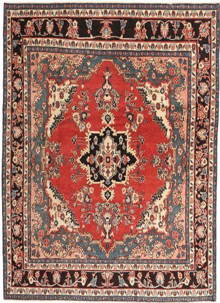 Hamadan Patina Matto 200X275 Itämainen Käsinsolmittu Vaaleanruskea/Tummanruskea (Villa, Persia/Iran)
