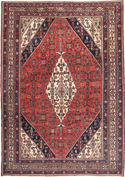 Hamadan Patina Matta 260X367 Äkta Orientalisk Handknuten Mörkbrun/Mörkröd Stor (Ull, Persien/Iran)
