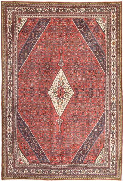 Hamadan Patina Matta 255X370 Äkta Orientalisk Handknuten Mörkröd/Ljusbrun Stor (Ull, Persien/Iran)