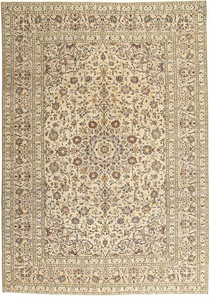 Keshan Patina Matta 252X362 Äkta Orientalisk Handknuten Ljusbrun/Beige Stor (Ull, Persien/Iran)