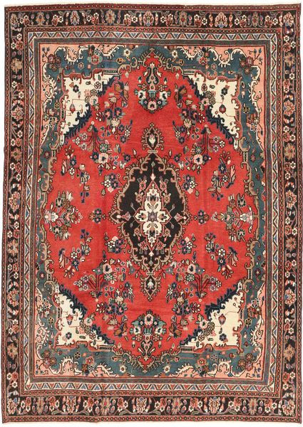 Hamadan Patina Rug 238X330 Authentic  Oriental Handknotted Dark Red/Dark Brown (Wool, Persia/Iran)
