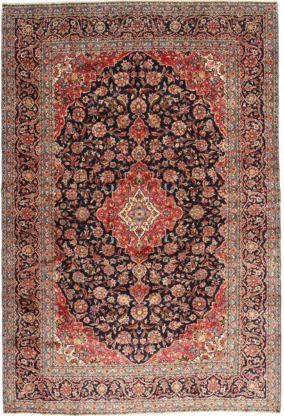 Keshan Matto 242X355 Itämainen Käsinsolmittu Tummanpunainen/Vaaleanruskea (Villa, Persia/Iran)