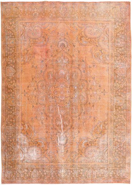 Colored Vintage Matta 245X350 Äkta Modern Handknuten Ljusbrun/Ljusrosa (Ull, Persien/Iran)