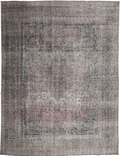 Colored Vintage Rug 293X382 Authentic  Modern Handknotted Light Grey/Dark Grey Large (Wool, Persia/Iran)