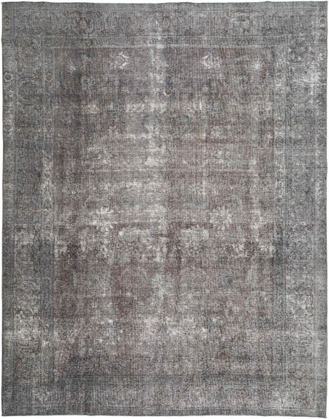 Colored Vintage Rug 292X370 Authentic  Modern Handknotted Dark Grey/Light Grey Large (Wool, Persia/Iran)