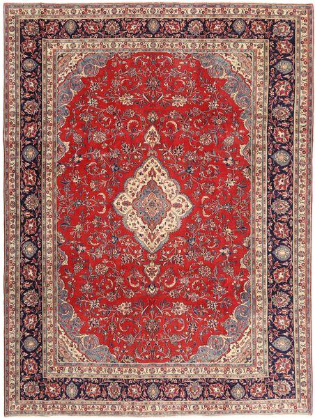 Sarough Patina Matto 268X360 Itämainen Käsinsolmittu Tummanpunainen/Vaaleanruskea Isot (Villa, Persia/Iran)
