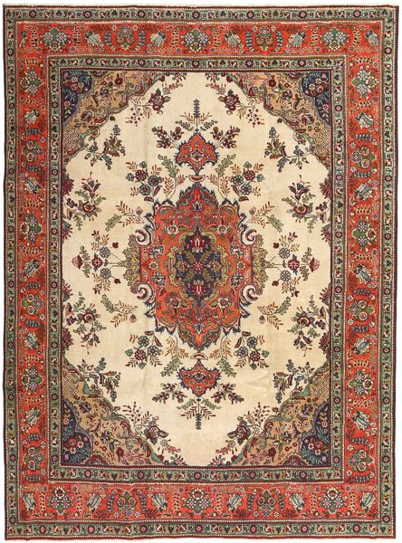 Tabriz Patina Matto 245X330 Itämainen Käsinsolmittu Vaaleanruskea/Tummanpunainen (Villa, Persia/Iran)