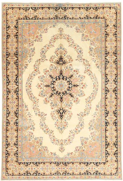 Kerman Patina Rug 182X273 Authentic  Oriental Handknotted Light Brown/Beige (Wool, Persia/Iran)