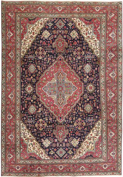 Tabriz Patina Matto 233X340 Itämainen Käsinsolmittu Vaaleanruskea/Ruskea (Villa, Persia/Iran)