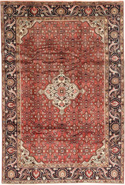 Hosseinabad Teppe 210X307 Ekte Orientalsk Håndknyttet Brun/Mørk Rød (Ull, Persia/Iran)