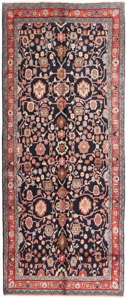 Nanadj Rug 153X375 Authentic  Oriental Handknotted Hallway Runner  Black/Light Grey (Wool, Persia/Iran)