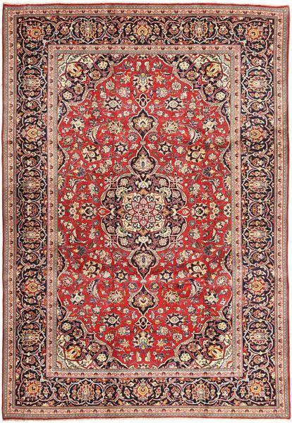Keshan Matto 245X365 Itämainen Käsinsolmittu Vaaleanpunainen/Violetti (Villa, Persia/Iran)