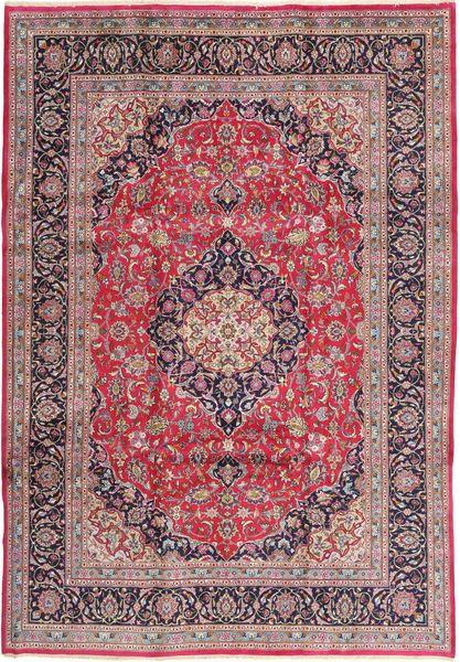 Kashmar Matta 240X345 Äkta Orientalisk Handknuten Ljuslila/Mörkbrun (Ull, Persien/Iran)