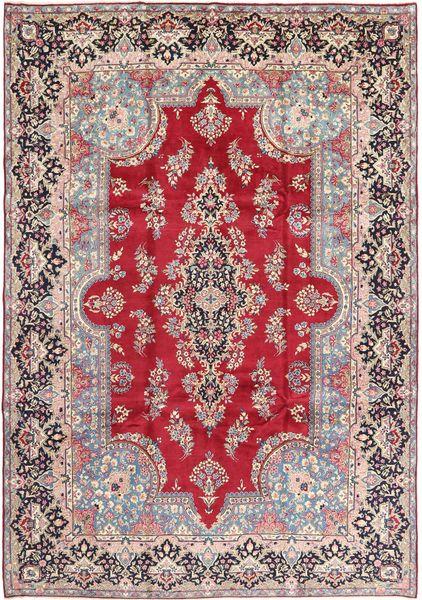 Yazd Matto 250X357 Itämainen Käsinsolmittu Vaaleanpunainen/Vaaleanharmaa Isot (Villa, Persia/Iran)